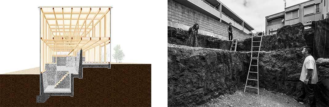 【写真】三石邸 東京都世田谷区 2020年1月竣工予定